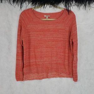 JOIE wool cashmere rayon blend hi low orange top S